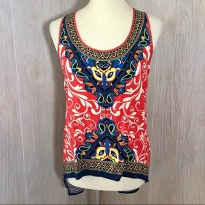 Flying Tomato Boho Multicolor Sleeveless Blouse